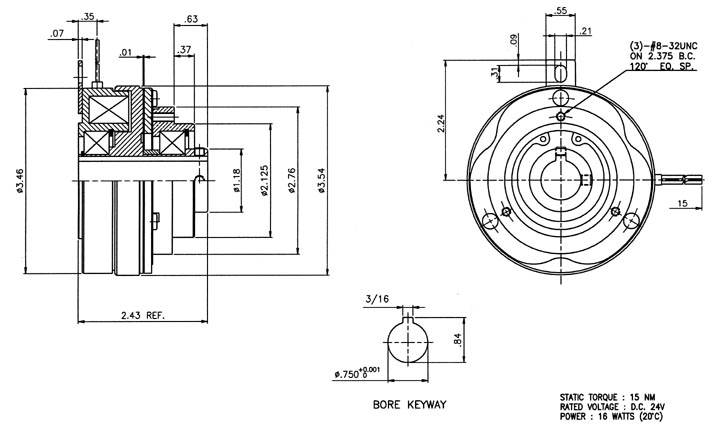 SC-350-12 shaft-mounted clutch